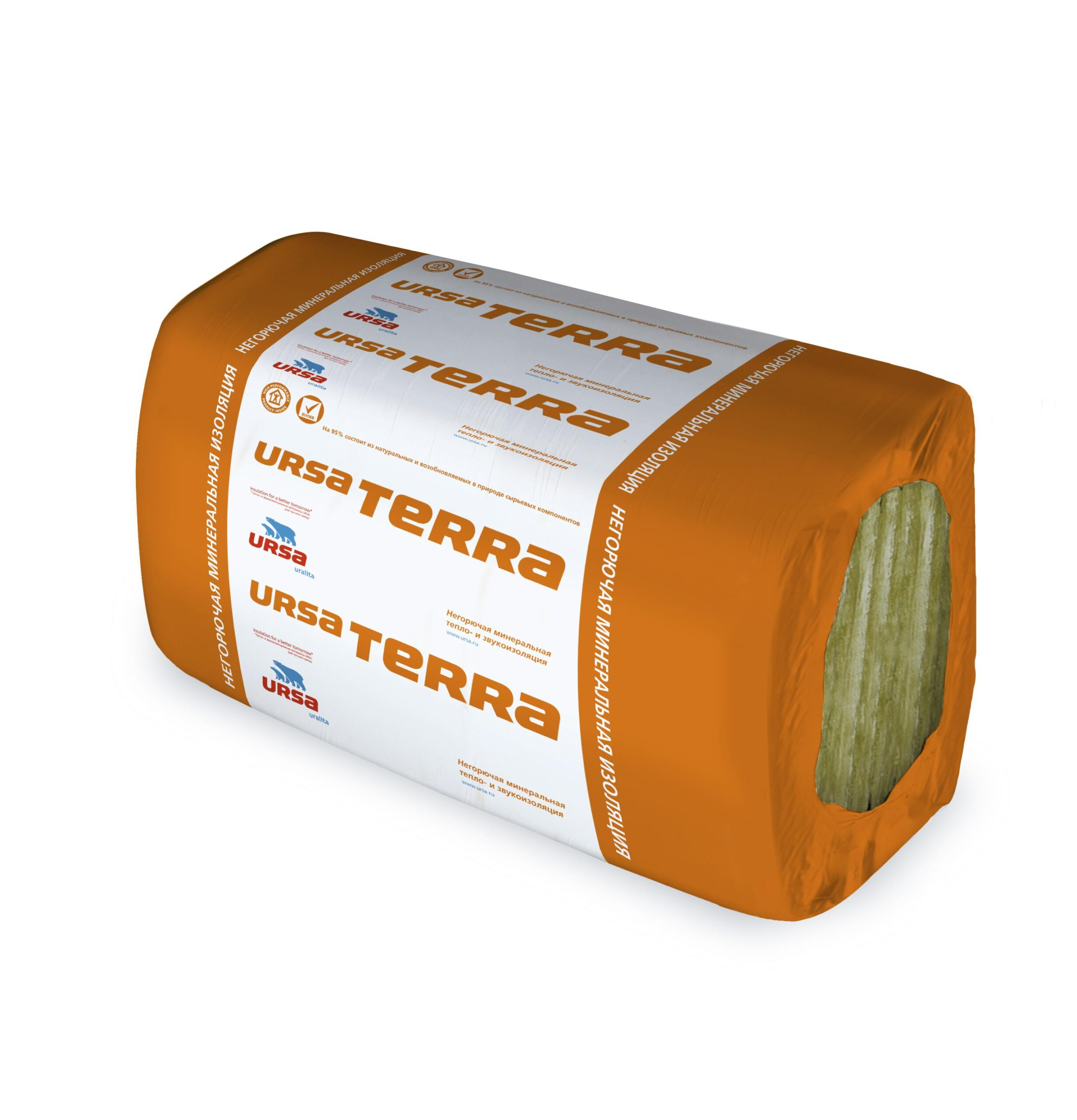 Минвата URSA TERRA 34PN 1250-610-50 (10 плит, 0,381м3)