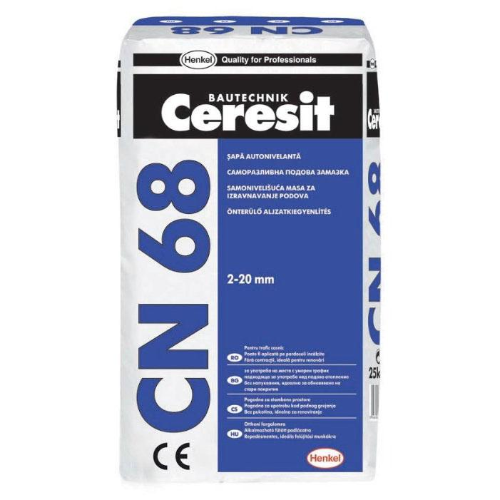 Церезит CN 68 Смесь самовыравнивающаяся 1-15 мм 25 кг