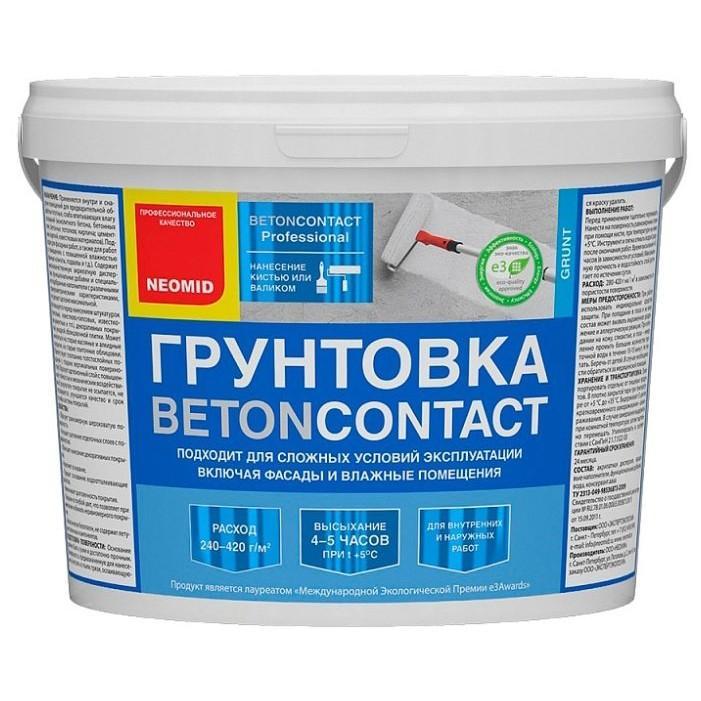 Грунтовка Неомид адгезионная Бетон-контакт 3кг белая