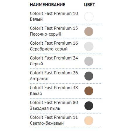 Затирка Плитонит Colorit Fast Premium какао 2кг